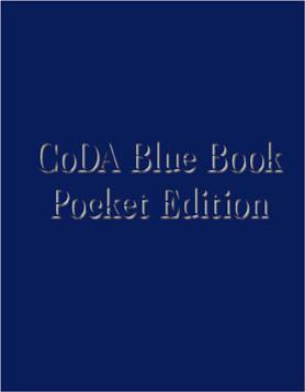 CODA BLUE BOOK - LIVRE BLEU DE CODA